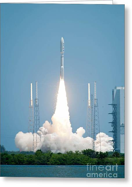Nasa Space Program Greeting Cards - Juno Spacecraft Lifts Off Greeting Card by NASA/Science Source
