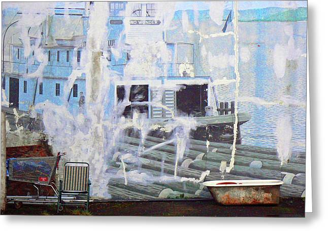 Lawn Chair Greeting Cards - Junqued Art Greeting Card by Pamela Patch