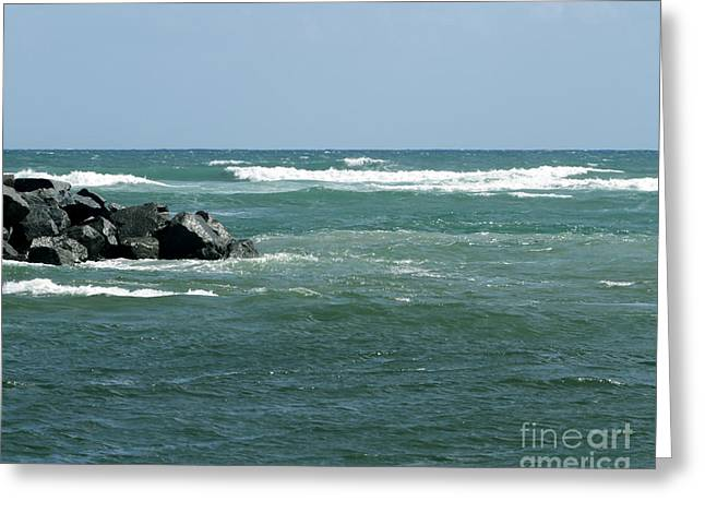Oceanview Greeting Cards - Jupiter Beach Seaview Greeting Card by Sabrina L Ryan
