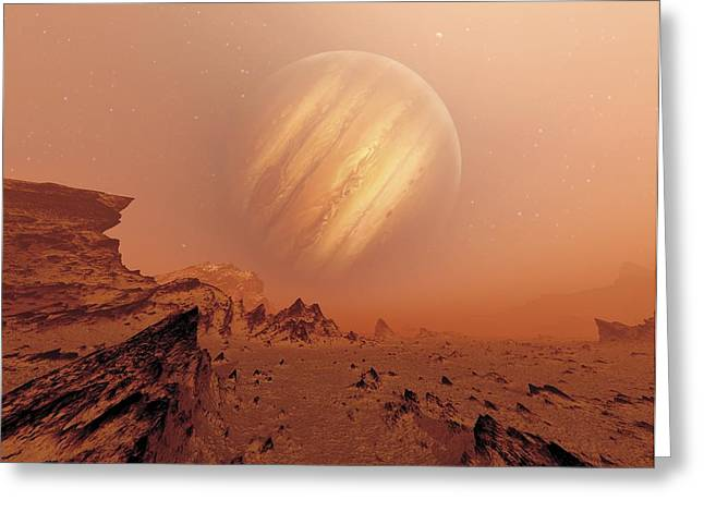 Geologically Greeting Cards - Jupiter From Io, Artwork Greeting Card by Detlev Van Ravenswaay