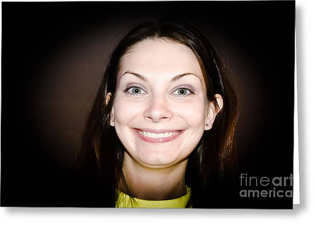 Nice Teeth Greeting Cards - Just a Big Smile Greeting Card by Yurix Sardinelly