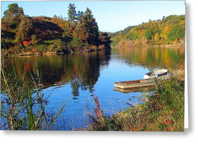 Just A Couple Of Boats Greeting Card by Chris Anderson