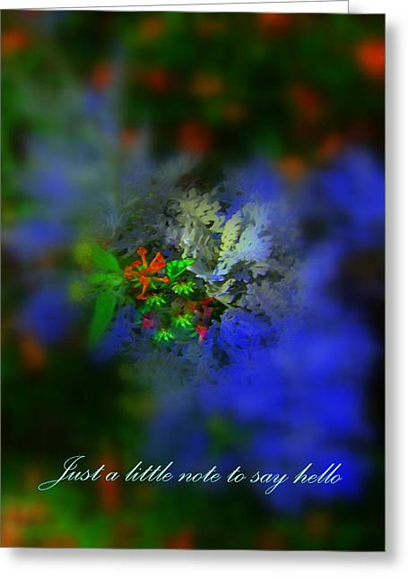 Digital Art Greeting Cards - Just A Little Note To Say Hello Greeting Card by Sherri  Of Palm Springs