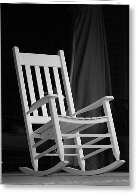 Rocking Chairs Mixed Media Greeting Cards - Just a Rockn Greeting Card by Jan Canavan