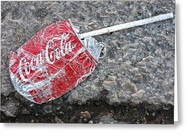 Soda Can Greeting Cards - Just A Sip Greeting Card by Jame Hayes