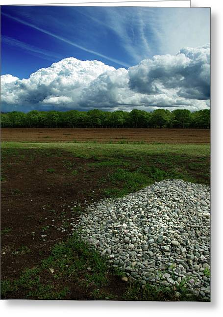 Thrown Away Greeting Cards - Just a Stone Throw Away Greeting Card by Peter Piatt
