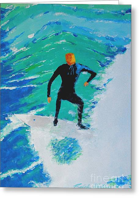 Wind Surfing Art Paintings Greeting Cards - Just Another Ride Greeting Card by Art Mantia