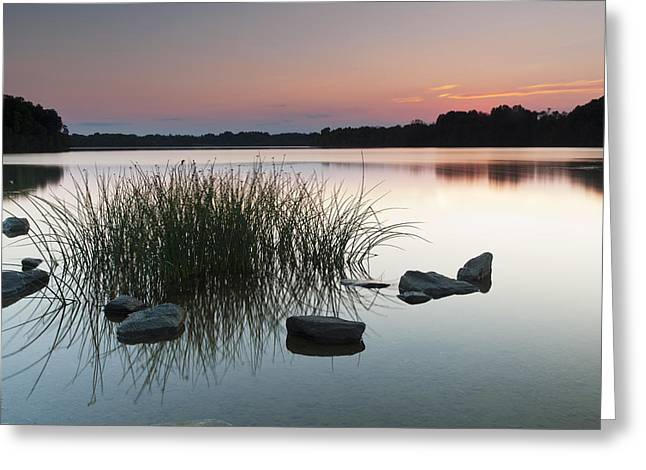 Dk Pink Greeting Cards - Just Another Sunset Greeting Card by Edward Kreis