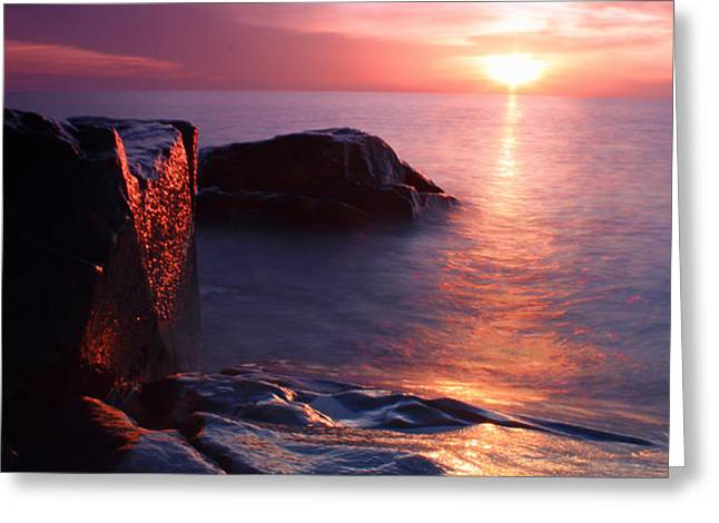 Just another Superior sunrise. Greeting Card by Jamie Rabold