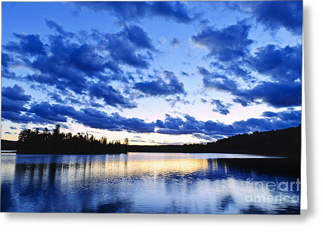 Algonquin Greeting Cards - Just before nightfall Greeting Card by Elena Elisseeva