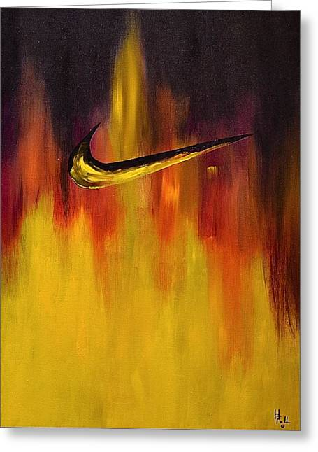 Nike Greeting Cards - Just Do It Greeting Card by Herschel Fall