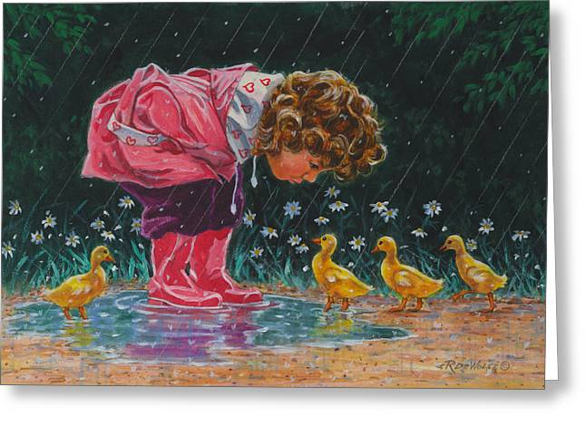 Ducklings Greeting Cards - Just Ducky Greeting Card by Richard De Wolfe