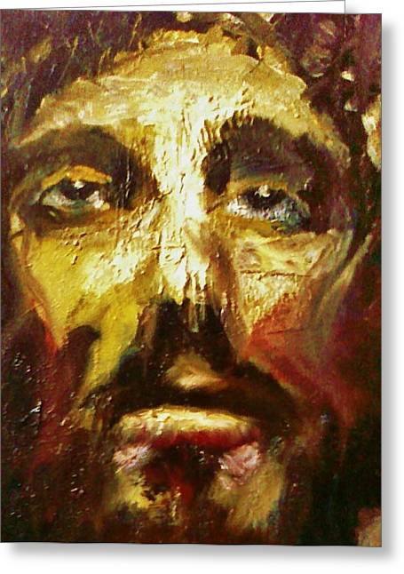Jesus Pastels Greeting Cards - Just For Me Greeting Card by Bob Naramore