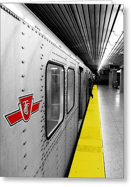 Toronto Transit Commission Greeting Cards - Just in Time Greeting Card by Valentino Visentini