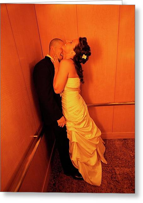 Marriot Greeting Cards - Just Married Greeting Card by Davo Paul