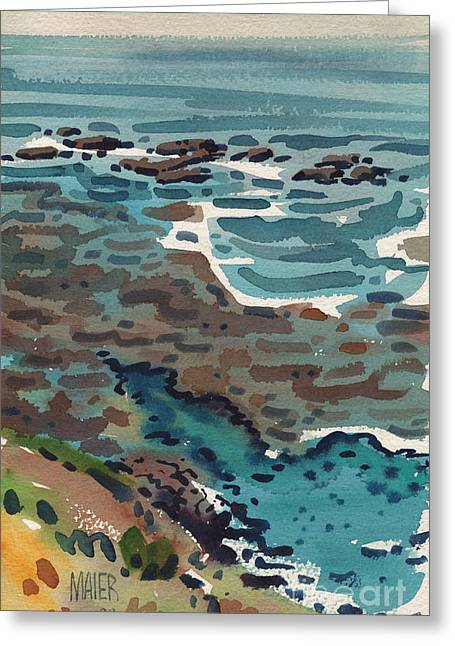 Santa Cruz Paintings Greeting Cards - Just North of Santa Cruz Greeting Card by Donald Maier
