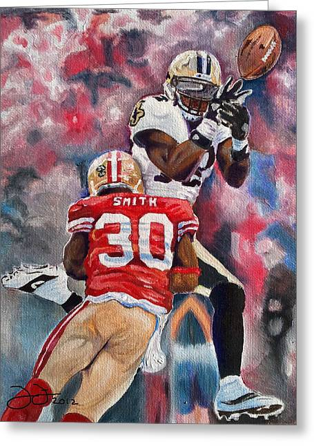 49ers Paintings Greeting Cards - Just out of reach Greeting Card by Donovan Furin