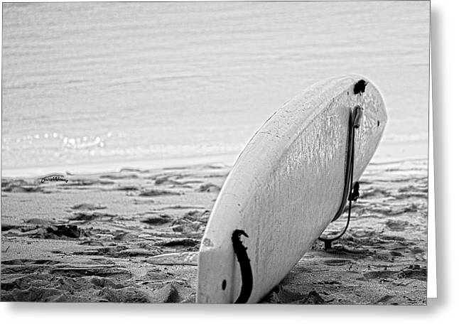 Surf Art Greeting Cards - Just Surf Greeting Card by Cheryl Young