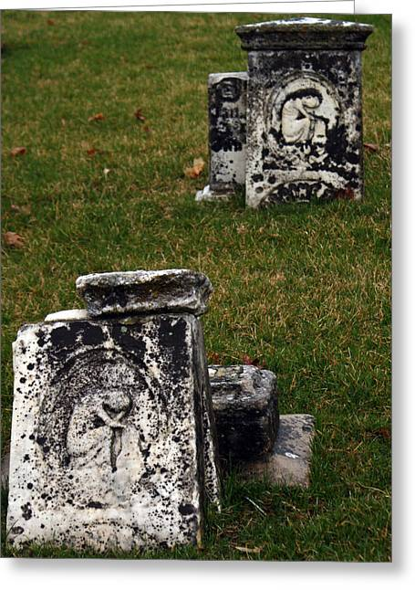 Headstones Greeting Cards - Just The Beginning Greeting Card by Off The Beaten Path Photography - Andrew Alexander