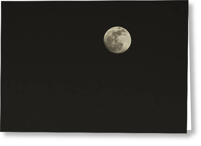 Just The Moon Greeting Card by Roger Wedegis