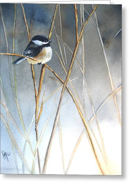 Fog Paintings Greeting Cards - Just Thinking Greeting Card by Patricia Pushaw