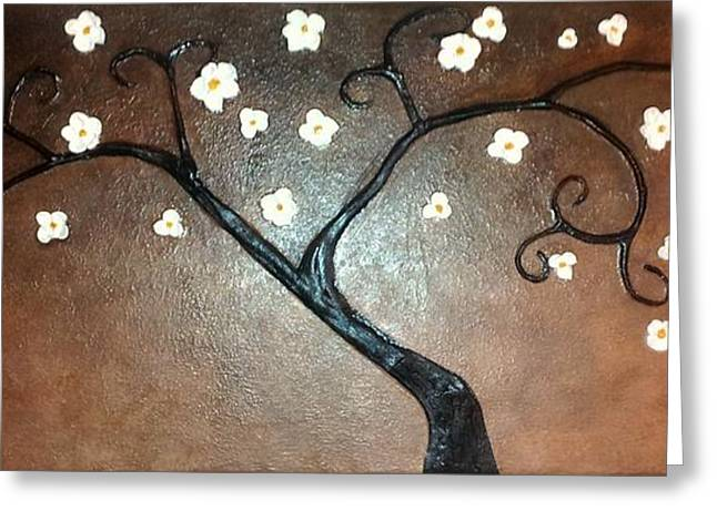 Just Thirty Two Flowers Greeting Card by Edwin Alverio