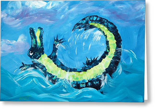 Florida Gators Paintings Greeting Cards - Just Wanna Have Fun Greeting Card by Adriane Pirro