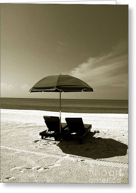 Monochrome Greeting Cards - Just You and Me Greeting Card by Susanne Van Hulst
