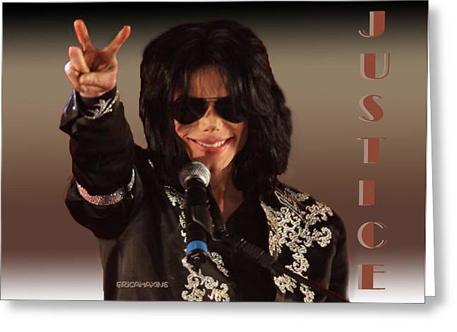 Mj Digital Greeting Cards - Justice Served Greeting Card by EricaMaxine  Price
