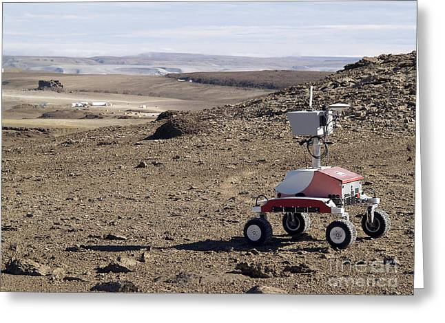 Roving Greeting Cards - K-10 Rover Red Greeting Card by Stocktrek Images