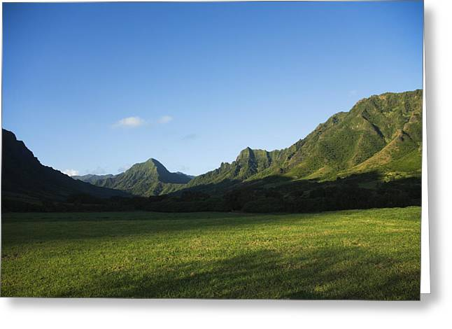 Kaaawa Valley Greeting Card by Dana Edmunds - Printscapes