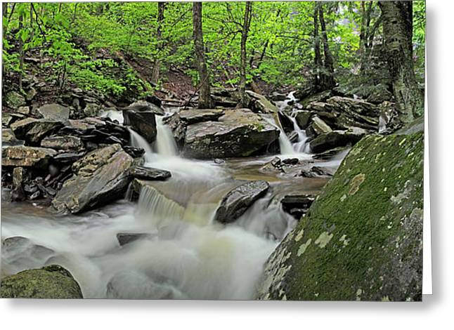 Rock Spring Greeting Cards - Kaaterskill Creek Panorama Greeting Card by Rick Berk