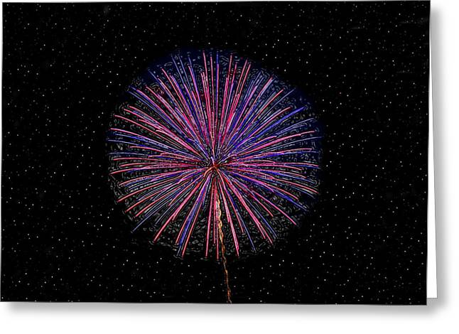 Fourth Of July Art Greeting Cards - Kaboom Greeting Card by David Lee Thompson