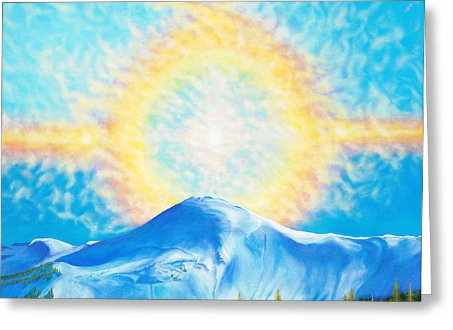 Wolf Creek Paintings Greeting Cards - Kabowd Yehovah Greeting Card by Anastasia  Ealy