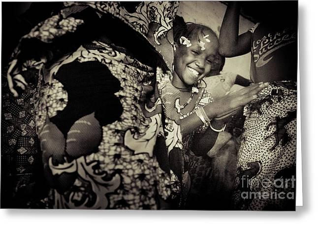 Dancing Girl Greeting Cards - Kadjata I Greeting Card by Irene Abdou