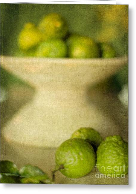 """indoor"" Still Life Digital Art Greeting Cards - Kaffir Limes Greeting Card by Linde Townsend"