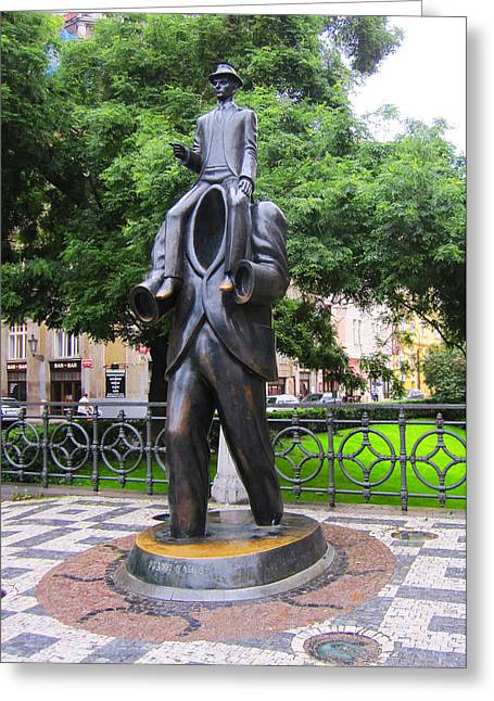 Franz Kafka Greeting Cards - Kafka monument Greeting Card by Edite Azevedo