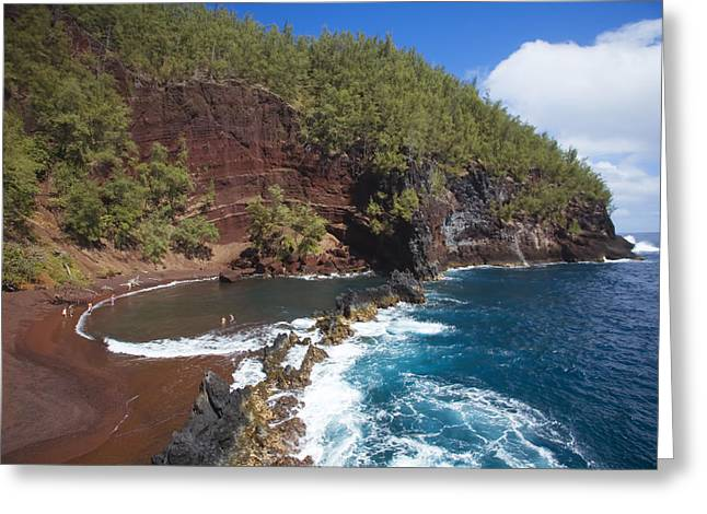Hawaiian Pond Greeting Cards - Kaihalulu Beach III Greeting Card by Ron Dahlquist - Printscapes