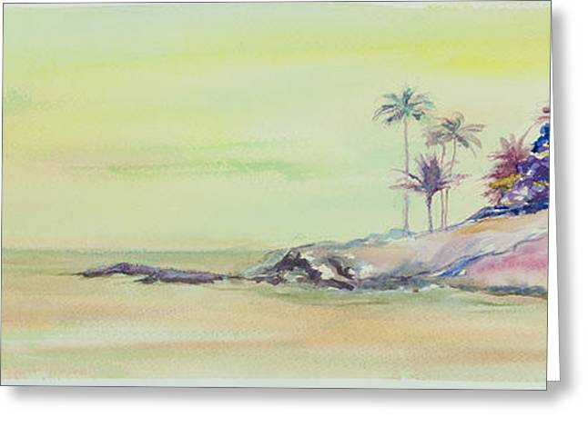 Surfer Art Greeting Cards - Kailua Beach at sunset Greeting Card by Elena Liachenko