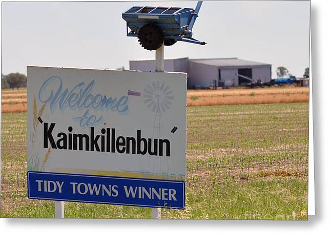 Joanne Kocwin Photographs Greeting Cards - Kaimkillenbun Sign Greeting Card by Joanne Kocwin