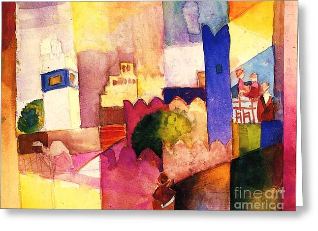 Macke Greeting Cards - Kairolian III   Greeting Card by Pg Reproductions