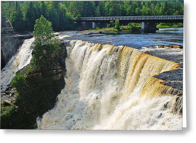 The North Greeting Cards - Kakabeka Falls Greeting Card by Bill Morgenstern