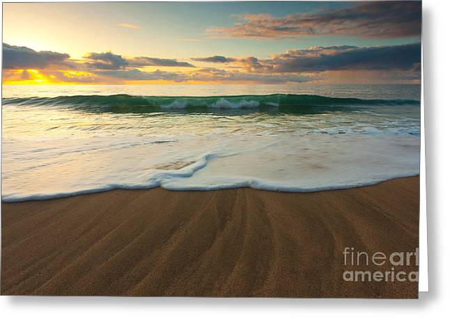 Gorgeous Sunset Greeting Cards - Kalalau Beach Sunset Greeting Card by Brian Ernst