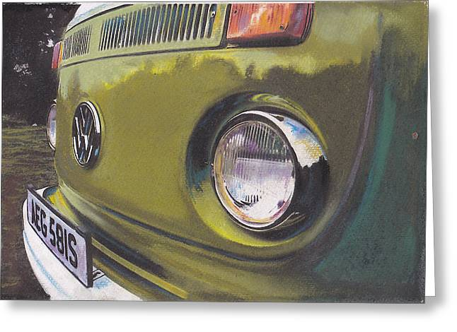 Historic Vehicle Pastels Greeting Cards - Kalamata Greeting Card by Sharon Poulton