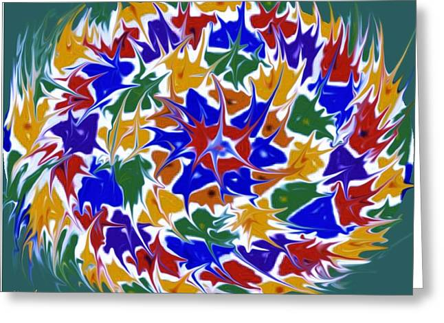Hope You Enjoy . Greeting Cards - Kaleidoscope A Greeting Card by June Pressly