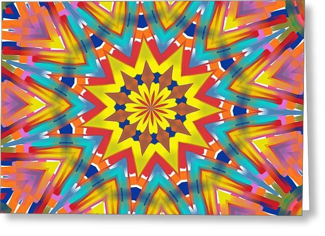 Kaleidoscope Series Number 7 Greeting Card by Alec Drake