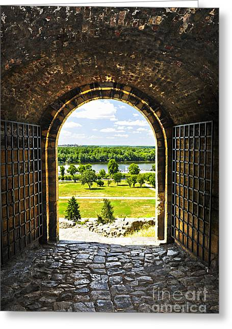 Castle Gates Greeting Cards - Kalemegdan fortress in Belgrade Greeting Card by Elena Elisseeva