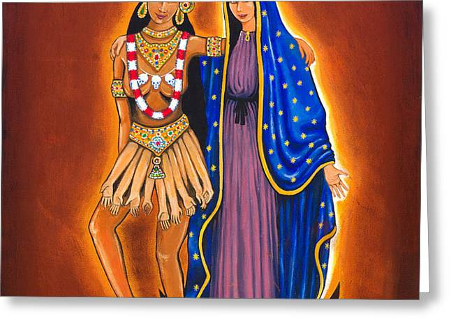 Kali and the Virgin Greeting Card by JAMES RODERICK