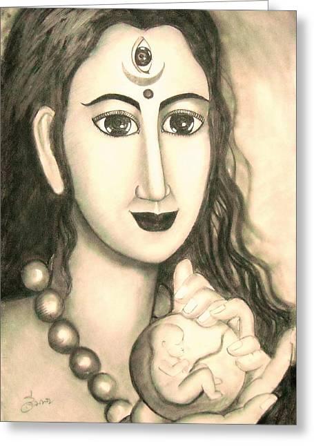 Hindu Goddess Greeting Cards - Kali goddess s nice Mom  Greeting Card by Sri Mala