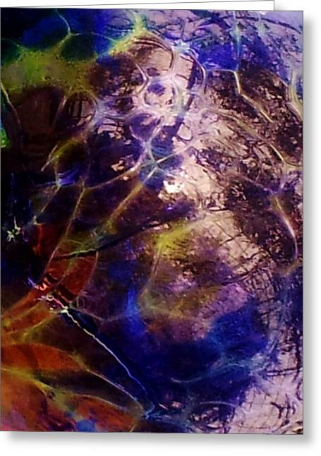 Shiny Glass Art Greeting Cards - Kaliedoscope Greeting Card by AE Hansen